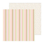 Doodlebug Design - Sugar and Spice Collection - 12 x 12 Double Sided Paper - Sweetie Pie Stripe