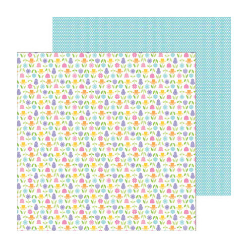 Doodlebug Design - Hello Spring Collection - 12 x 12 Double Sided Paper - May Flowers