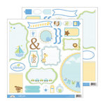 Doodlebug Design - Snips and Snails Collection - Cute Cuts - 12 x 12 Cardstock Die Cuts