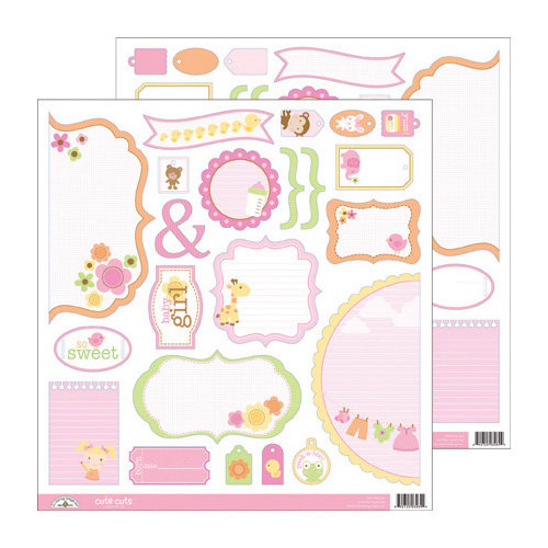 Doodlebug Design - Sugar and Spice Collection - Cute Cuts - 12 x 12 Cardstock Die Cuts