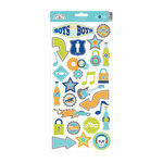 Doodlebug Design - Boys Only Collection - Cardstock Stickers - Icons