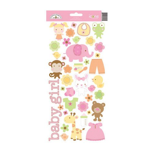 Doodlebug Design - Sugar and Spice Collection - Sugar Coated Cardstock Stickers - Icons