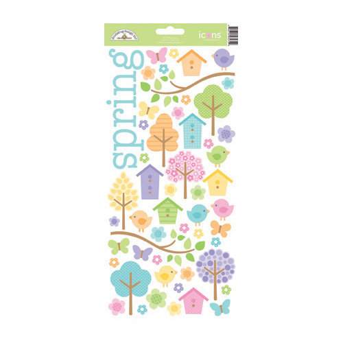 Doodlebug Design - Hello Spring Collection - Sugar Coated Cardstock Stickers - Icons