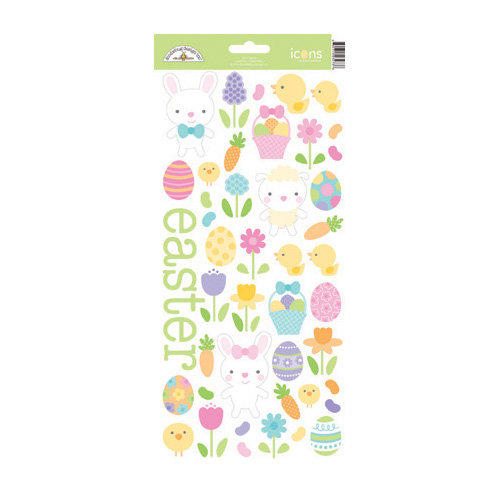 Doodlebug Design - Hello Spring Collection - Sugar Coated Cardstock Stickers - Easter Parade