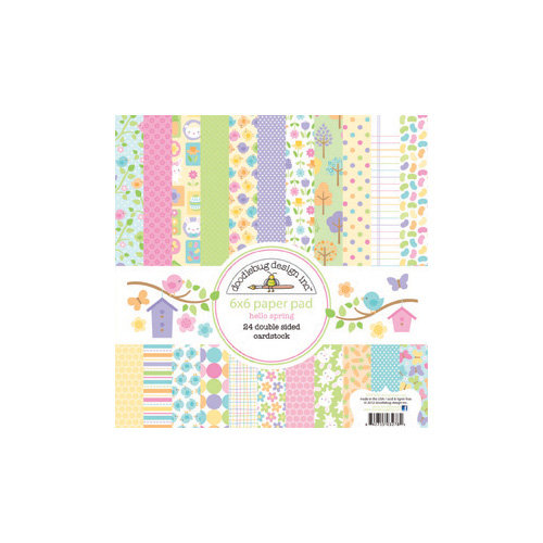 Doodlebug Design - Hello Spring Collection - 6 x 6 Paper Pad