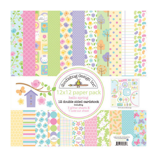 Doodlebug Design - Hello Spring Collection - 12 x 12 Paper Pack