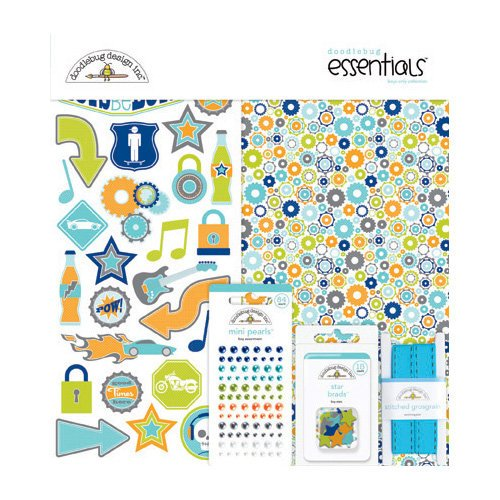 Doodlebug Design - Boys Only Collection - Essentials Kit