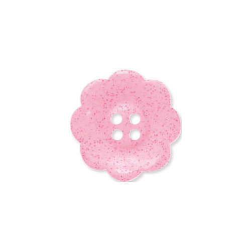 Doodlebug Design - Oodles - Buttons - Flower - 19 mm - Cupcake Glitter