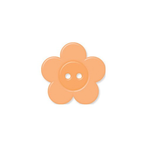 Doodlebug Design - Oodles - Buttons - Flower - 19 mm - Melon
