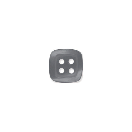 Doodlebug Design - Oodles - Buttons - Square - 13 mm - Gray