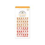 Doodlebug Design - Adhesive Pearls - Mini - Tangerine