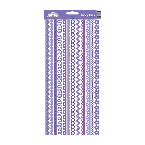 Doodlebug Design - Cardstock Stickers - Fancy Frills - Lilac