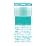 Doodlebug Design - Alphabet Cardstock Stickers - Teensy Type - Swimming Pool