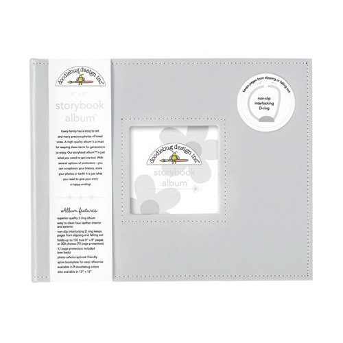 Doodlebug Design - 8 x 8 Storybook Album - Gray