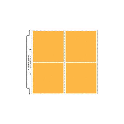 Doodlebug Design - 8 x 8 Storybook Album Protectors - 4 x 4 Square - 12 Pack