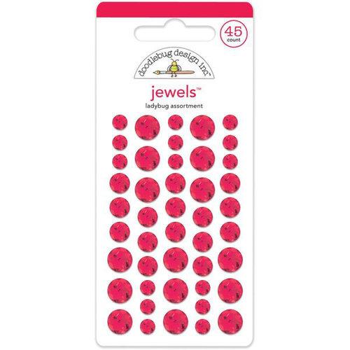 Doodlebug Design - Jewels Adhesive Rhinestones - Ladybug