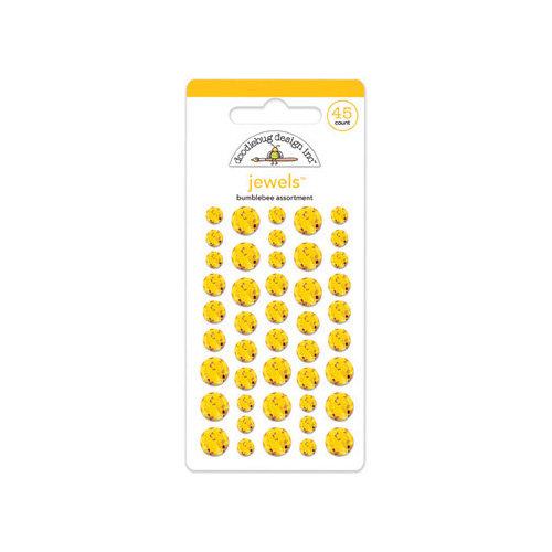 Doodlebug Design - Jewels Adhesive Rhinestones - Bumblebee