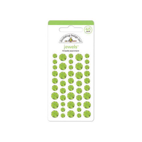 Doodlebug Design - Jewels Adhesive Rhinestones - Limeade