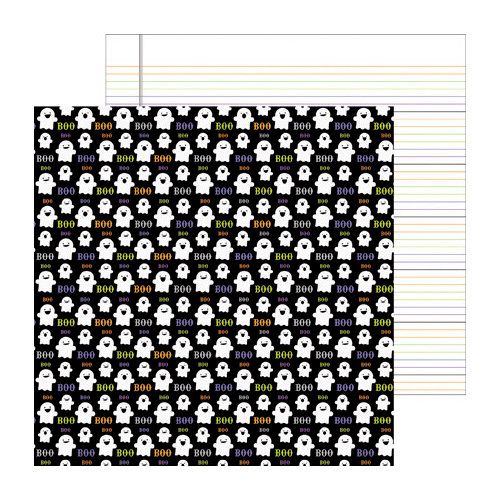 Doodlebug Design - Haunted Manor Collection - Halloween - 12 x 12 Double Sided Paper - Ghost Town
