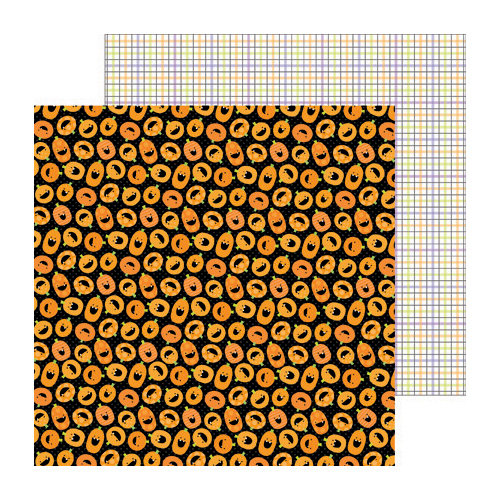 Doodlebug Design - Haunted Manor Collection - Halloween - 12 x 12 Double Sided Paper - Punkin Party