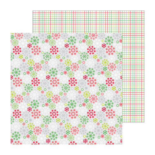 Doodlebug Design - North Pole Collection - Christmas - 12 x 12 Double Sided Paper - In a Flurry