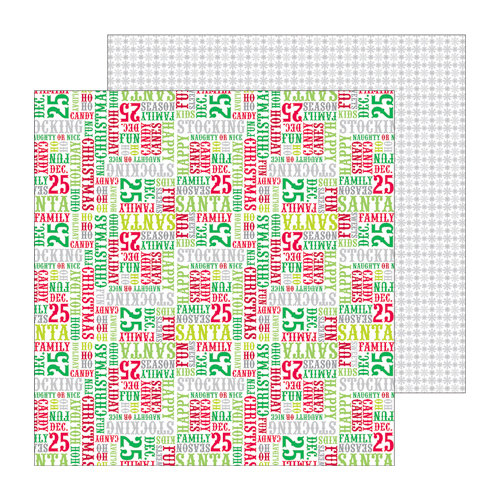 Doodlebug Design - North Pole Collection - Christmas - 12 x 12 Double Sided Paper - Christmas Cheer