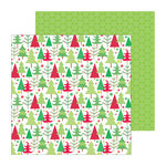 Doodlebug Design - North Pole Collection - Christmas - 12 x 12 Double Sided Paper - Playful Pines