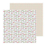 Doodlebug Design - North Pole Collection - Christmas - 12 x 12 Double Sided Paper - Frosty Friends