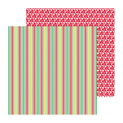 Doodlebug Design - North Pole Collection - Christmas - 12 x 12 Double Sided Paper - Holiday Lane
