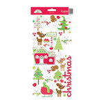 Doodlebug Design - North Pole Collection - Christmas - Cardstock Stickers - Icons