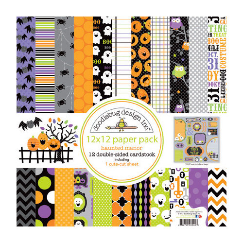 Doodlebug Design - Haunted Manor Collection - Halloween - 12 x 12 Paper Pack