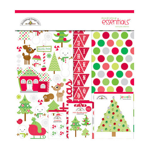 Doodlebug Design - North Pole Collection - Christmas - Essentials Kit