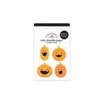 Doodlebug Design - Haunted Manor Collection - Halloween - Doodle-Pops - 3 Dimensional Cardstock Stickers - Mini - Punkin Pals