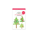 Doodlebug Design - North Pole Collection - Christmas - Doodle-Pops - 3 Dimensional Cardstock Stickers - Mini - Tiny Pines