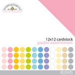 Doodlebug Design - 12 x 12 Texture Cardstock Assortment - Pastel
