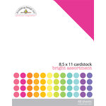 Doodlebug Design - 8.5 x 11 Texture Cardstock Assortment - Bright