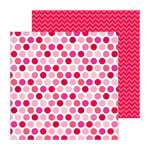 Doodlebug Design - Lovebirds Collection - 12 x 12 Double Sided paper - Darling Dots
