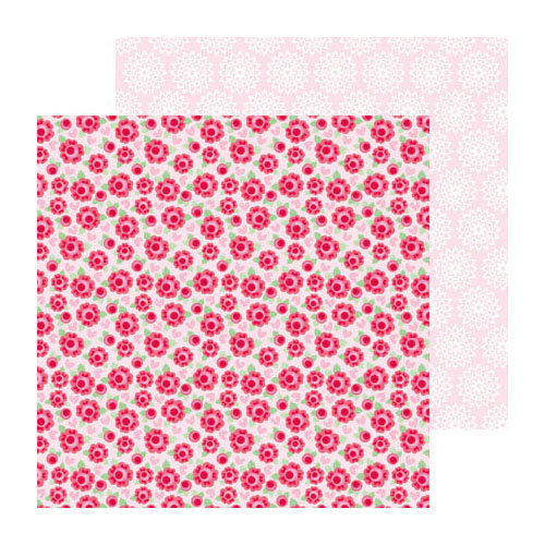 Doodlebug Design - Lovebirds Collection - 12 x 12 Double Sided paper - Love Always