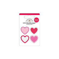 Doodlebug Design - Lovebirds Collection - Doodle-Pops - 3 Dimensional Cardstock Stickers - Mini - Valentines