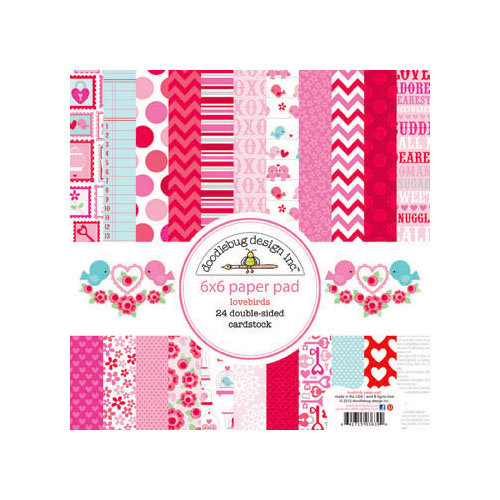 Doodlebug Design - Lovebirds Collection - 6 x 6 Paper Pad