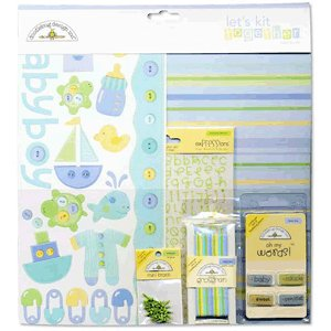 Doodlebug Design Let's Kit Together - Baby Boy, CLEARANCE