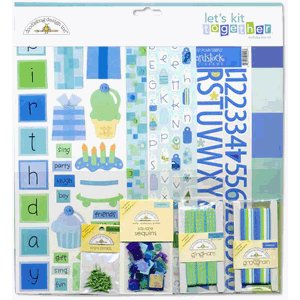 Doodlebug Design Let's Kit Together - Birthday Boy, CLEARANCE