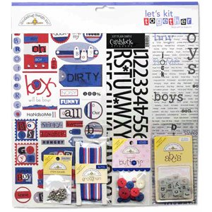 Doodlebug Design Let's Kit Together - Boys Will Be Boys