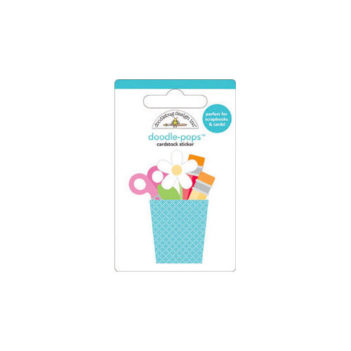 Doodlebug Design - Take Note Collection - Doodle-Pops - 3 Dimensional Cardstock Stickers - Mini - Crafty Cup