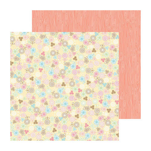 Doodlebug Design - Flower Box Collection - 12 x 12 Double Sided Paper - Delicate Daisies