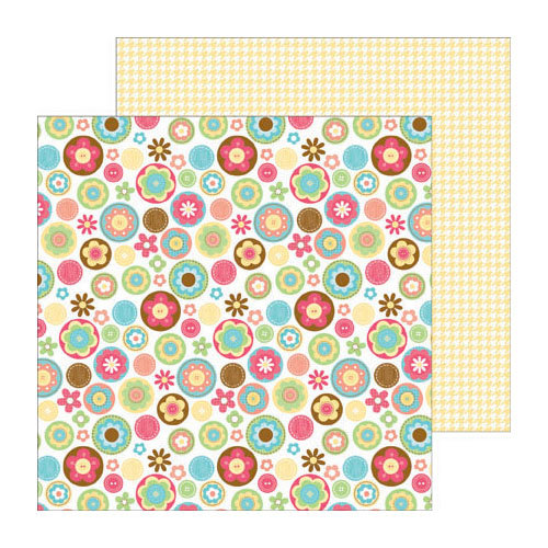 Doodlebug Design - Flower Box Collection - 12 x 12 Double Sided Paper - Flower Box