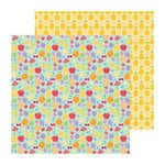Doodlebug Design - Fruit Stand Collection - 12 x 12 Double Sided Paper - Fruit Cocktail