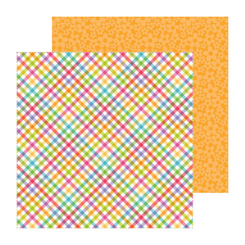 Doodlebug Design - Fruit Stand Collection - 12 x 12 Double Sided Paper - Fruit Punch Plaid