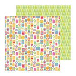Doodlebug Design - Fruit Stand Collection - 12 x 12 Double Sided Paper - Sweet Summer