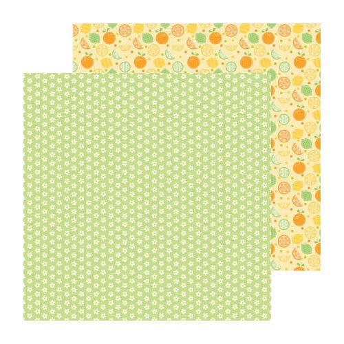 Doodlebug Design - Fruit Stand Collection - 12 x 12 Double Sided Paper - Orange Blossoms
